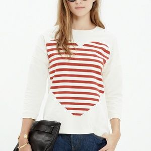Madewell Heart Cotton Relax Fit Top